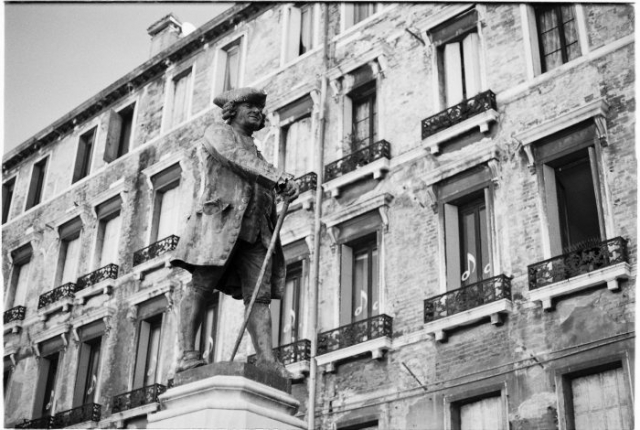 Venice statue analog film photography