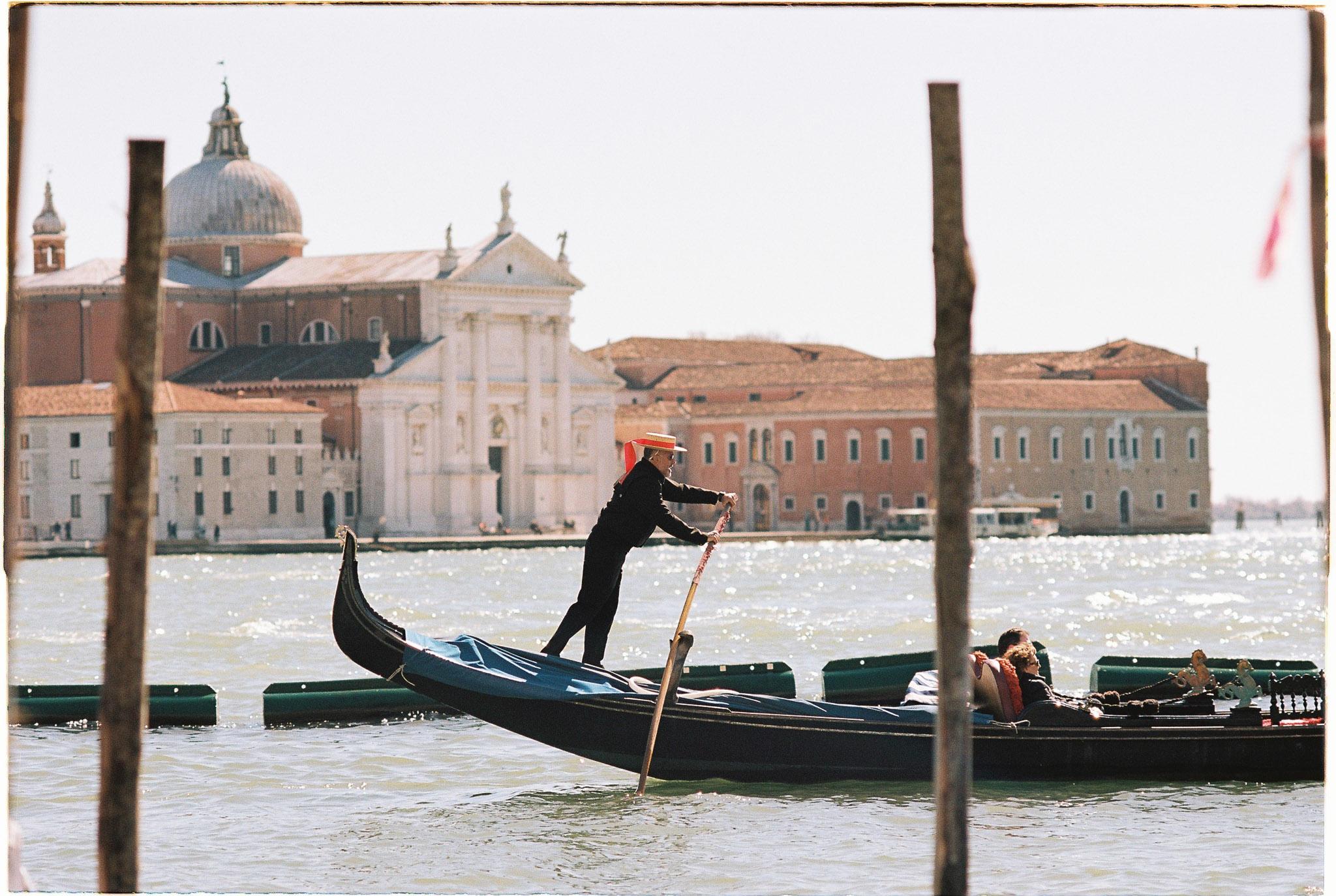 Gondola ride Venice kodak Portra 160 nikon FE2