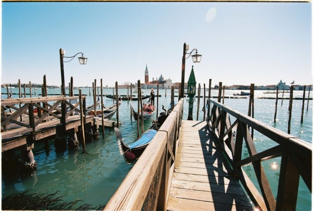 Venice port analog photography