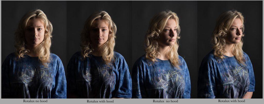 Rotalux Elinchrom stripbox portrait rimlight