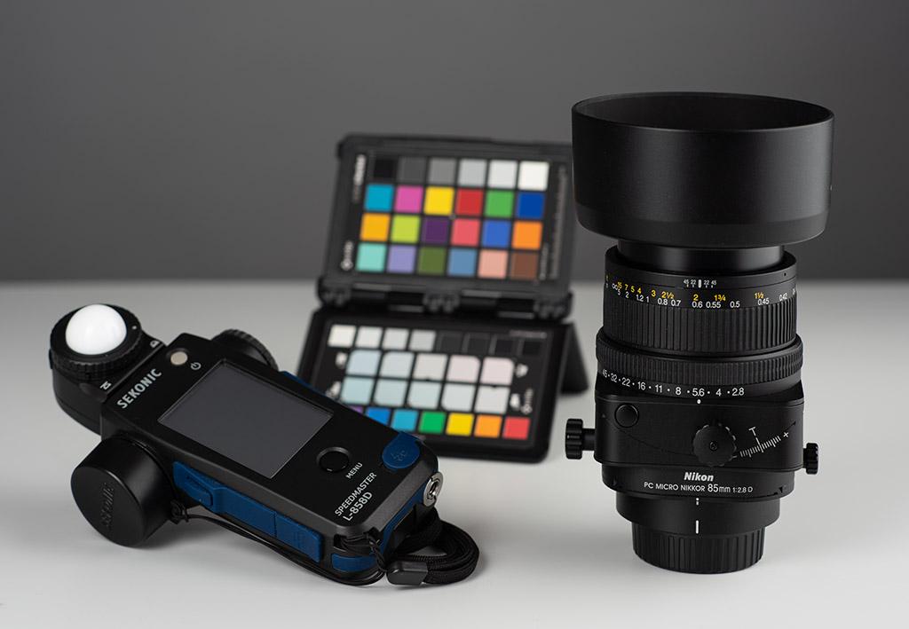 Sekonic L858D X-rite Nikon Nikkor PC 85mm F2.8D