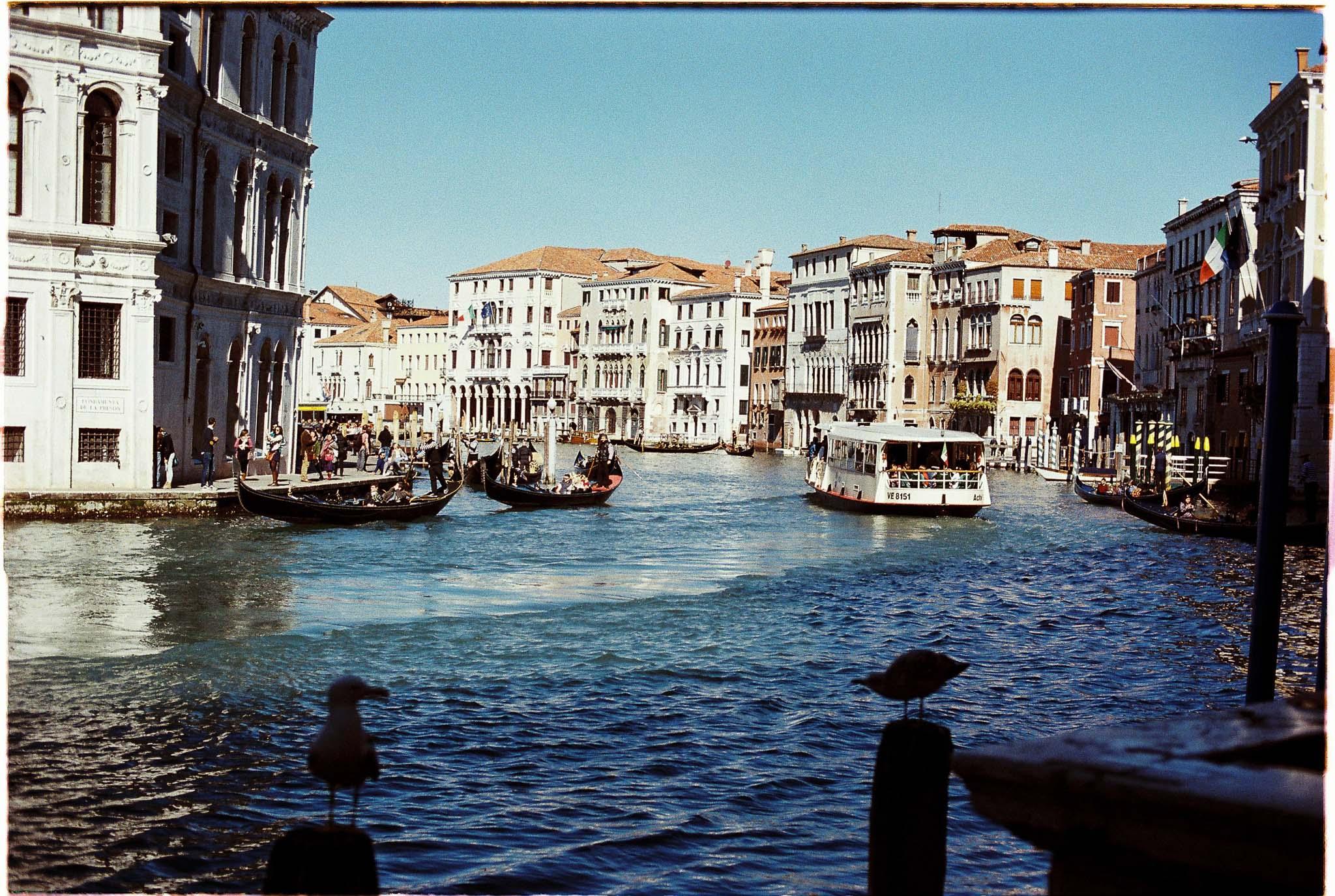 Grand Canal Venice Italy Agfa Vista 100 expired