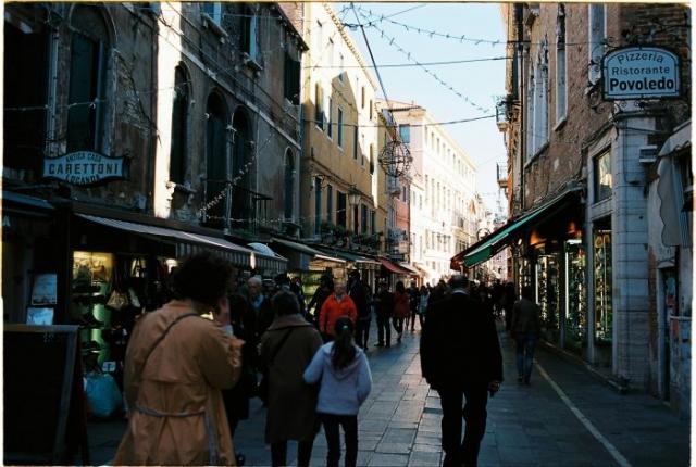 Streets of venice Kodak Ektar