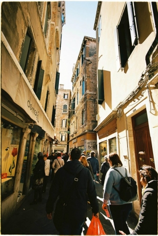Streets in Venice film photography
