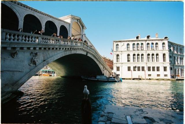 Grand canal Venice Rialto bridge Kodak Ektar 100 Zeiss 18mm 3.5 distagon