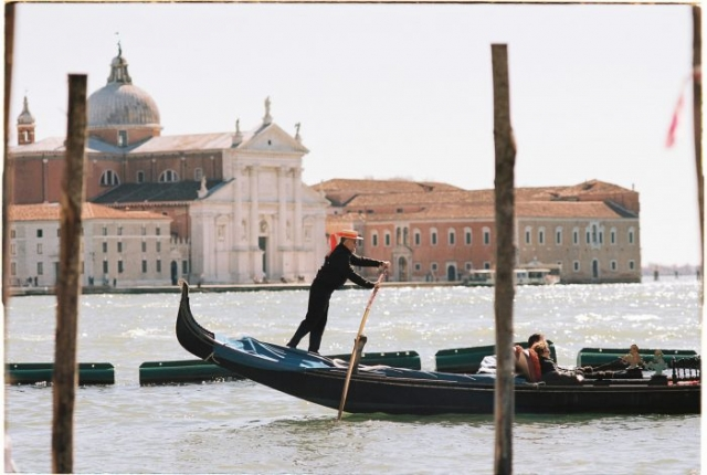 Gondola ride Venice Kodak Portra 160