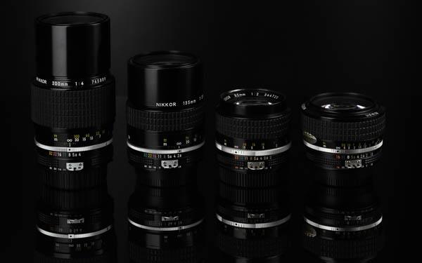 Nikon Nikkor lenses Ai lens 135mm 85mm 50mm 200mm